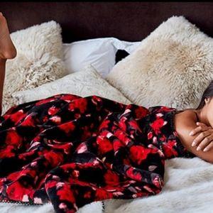 Victoria's Secret Floral Blanket
